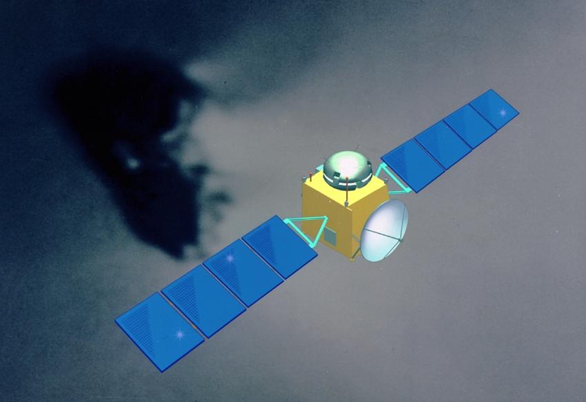 Modello al computer della sonda Rosetta - Fonte NASA