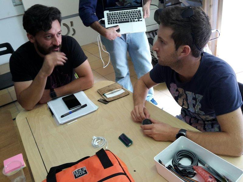 Giulio e Costantino si confrontano sul progetto Voice Instruments