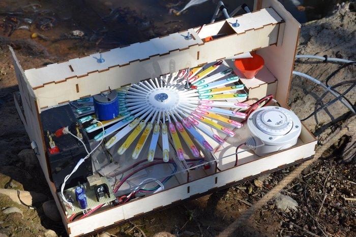 Acid Carousel, un misuratore automatico della qualità dell'acqua