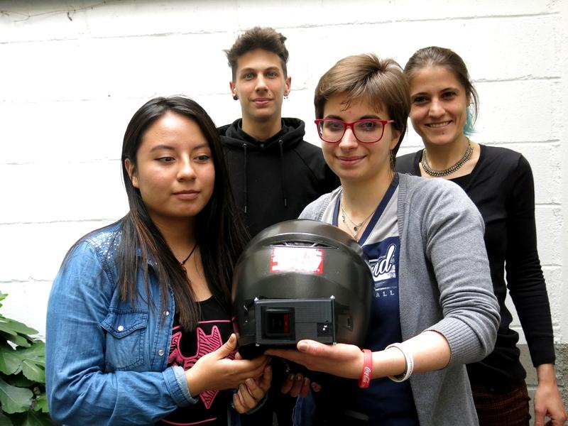Il casco che avvisa in caso di caduta e geolocalizza la posizione del ferito