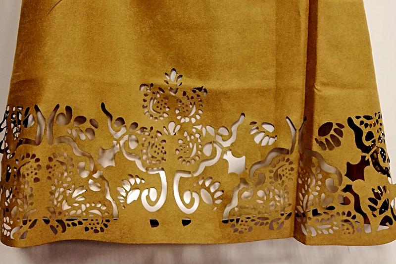 Dettaglio della gonna realizzata dal gruppo di lavoro di Luca durante il corso Digital Fashion Making