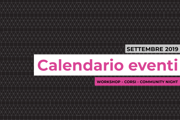 Pagina Di Calendario Agosto 2019.Wemake Makerspace Fablab Workshop