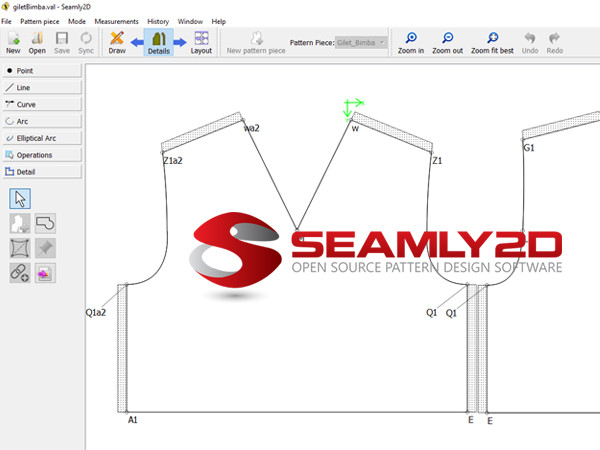 Corso Digital patternmaking with Seamly2D
