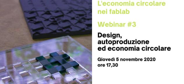 Webinar Design, autoproduzione ed economia circolare