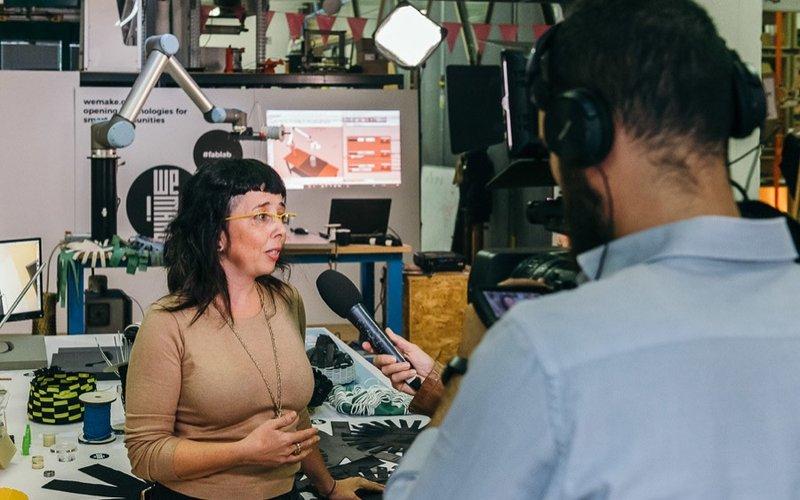 Intervista a Zoe Romano durante Manifatture Aperte a WeMake