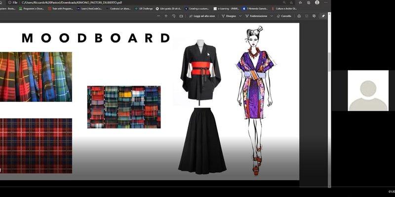 Progetto Kymono seibu - corso Digital Fashion Making