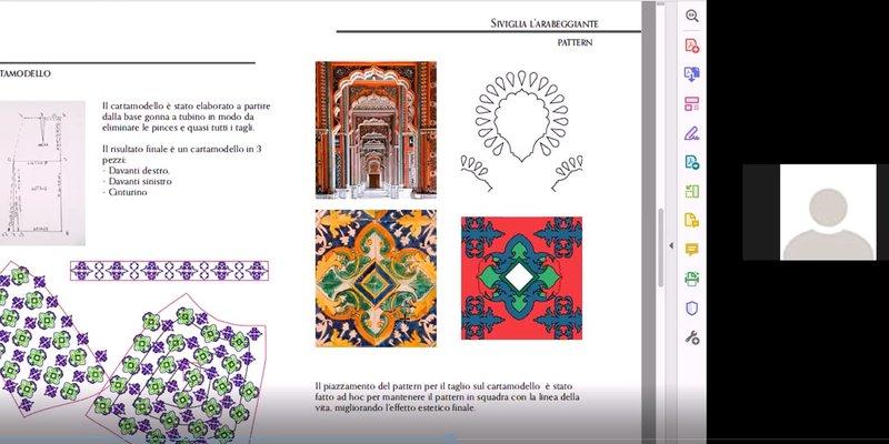Progetto Siviglia l'arabeggiante - corso Digital Fashion Making