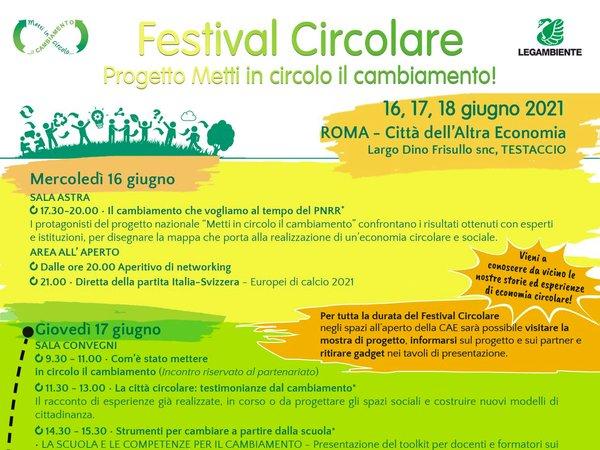 Festival circolare | Metti in circolo il cambiamento | 16-18 giugno 2021