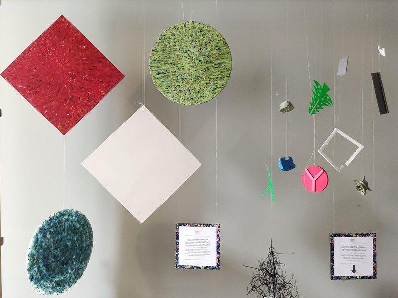 Fab City Residency | esposizione prodotti realizzati con scarti di stampe 3D